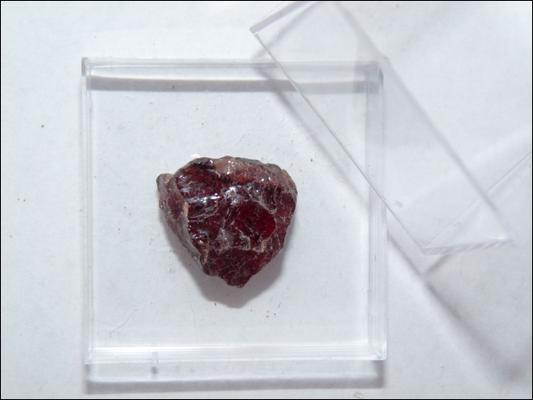 Almandine garnet large in box