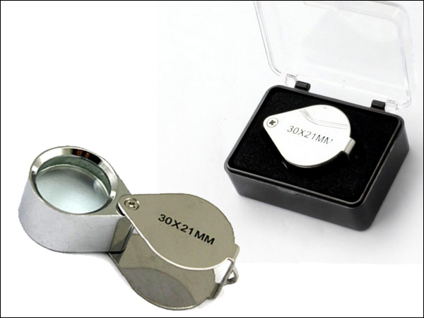 Hand loupe 30x21mm with box 25x