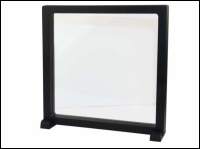 Floating display 3D 18x18x2cm black with side stands