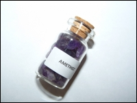 Bottle minerals middle Amethyst