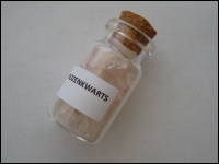 Bottle minerals middle Rose Quartz